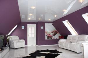 Эффектный глянец и стильный матовый натяжные потолки