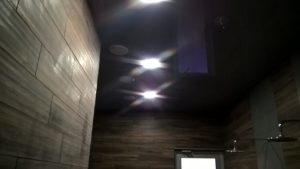 Черная гамма для натяжных потолков