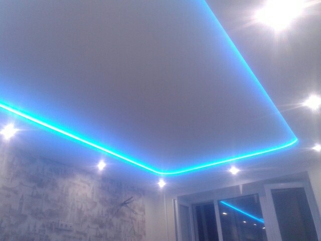 Двухуровневые натяжные потолки для любых интерьеров