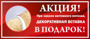 ДЕКОРАТИВНАЯ ВСТАВКА В ПОДАРОК!